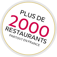 Plus de 2000 restaurants en France !
